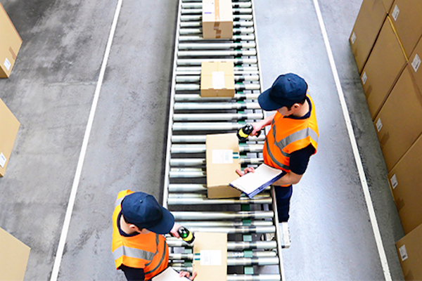 image-of-workers-watching-packages-on-conveyer