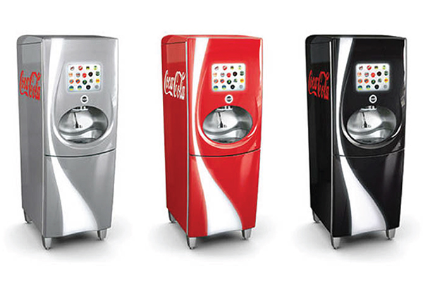 photo of 3 Coke Freestyle machines in red, gray and black
